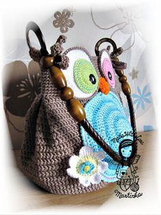 Crochet PATTERN, Bag Jolly Owl, Purse, Hand Bag, DIY Pattern 28