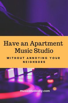 Having an Apartment Music Studio Without Annoying Your Neighbors - Music Studio DIY - Home Music Studios Music Studio Decor, Home Studio Music, Music Production Equipment, Studio Equipment, Dj Equipment, Recording Studio Setup, Studio Layout, Sound Proofing, Studio Ideas
