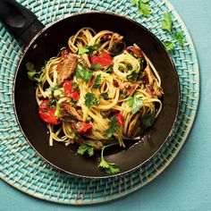 Gain a taste of Italy with this Sicilian sardine pasta with a whole bunch of ingredients you probably already have in your fridge and pantry. Pickle Relish, Sicilian, Coriander, Cherry Tomatoes, Cucumber, A Food, Food Processor Recipes, Fries, Spaghetti