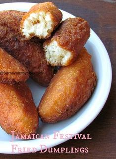 jamaican festival fried dumplings, I have a recipe for these but it adds other s. jamaican festival fried dumplings, I have a recipe for these but it adds other spices Jamaican Cuisine, Jamaican Dishes, Jamaican Recipes, Jamaican Festival Bread Recipe, Festival Recipe, Jamaican Desserts, Carribean Food, Caribbean Recipes, I Love Food