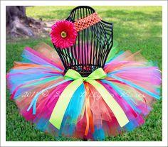 Carousel Tutu - Customize tutu size, Great for Baby Girls Dance 1st Birthdays Photos Dress up. $29.99, via Etsy.