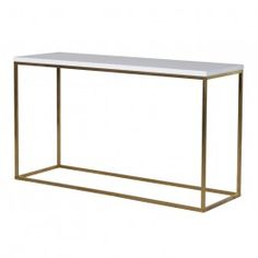 Glossy White Console Table