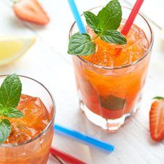 Lemoniada truskawkowa #lidl #przepis #lemoniada #truskawka