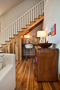 Design by Duncan Consultants | home office solutions for small space | ideas for space under stairs | home decor | storage solutions