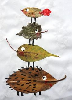 5 Autumn Crafts Ideas Made with Leaves Autumn Crafts, Angel Ornaments, Land Art, Art Plastique, Art For Kids, Rooster, Blade, Leaves, Animation