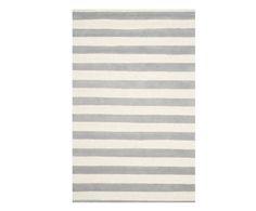 Handgetufteter Teppich Ada, grau/creme, 121 x 182 cm | Westwing Home & Living