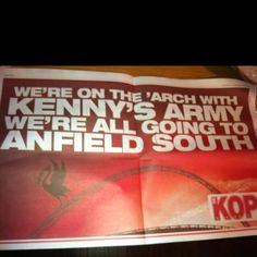 Kop magazine poster for Carling Cup