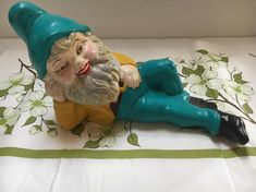 Check out this item in my Etsy shop https://www.etsy.com/listing/554904956/vintage-gnome-garden-gnome-relaxing