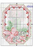 Schematic cross stitch Christmas ornaments 1p