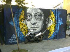 Graffiti lebanese artist Yazan Halwani in beirut Lebanon