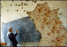 A school in Afghanistan, 2004.