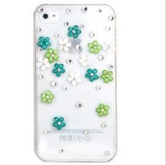 New Bling 3D Green Flower Case Cover For Apple iPhone 4 4S Mobile Phone by OEM, http://www.amazon.co.uk/dp/B00DAPMIA2/ref=cm_sw_r_pi_dp_mTdbsb1CHW2Y3