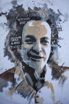 Richard  Feynman, art Science Guy, Science Quotes, Science Fair, Science Activities, Drawing S, Painting & Drawing, Physicist Stephen Hawking, Nicolas Tesla, Richard Feynman