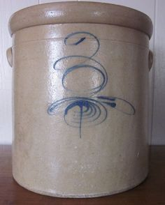 Antique 3 Gallon Red Wing Salt Glazed Stoneware Crock Bee Sting Target Tail