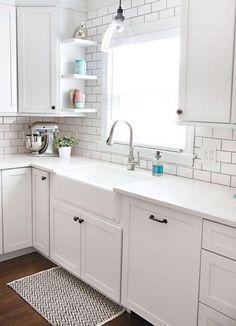 White kitchen cabinet design ideas (22)