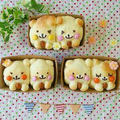 Japanese Bread, Japanese Sweets, Bread Art, Bread Head, Puff And Pie, Kawaii Cooking, Bread Shaping, Cute Buns, Kawaii Dessert