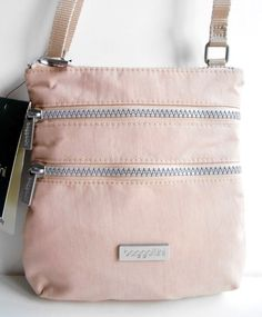 BAGGALLINI Tour Crossbody Bag Dusty Pink NEW WITH TAG Nylon Travel Organizer NWT #Baggallini #Crossbody