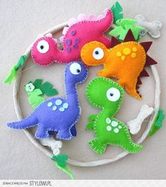 dinozaury filc na Stylowi.pl