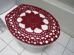 burgundy toilet seat cover. Crochet Toilet Seat Cover  burgundy TSC17N by ytang on Etsy seat cover crochet Pinterest covers and