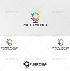 Photo World  - Logo Design Template Vector #logotype Download it here: http://graphicriver.net/item/photo-world-logo-template/5079252?s_rank=1651?ref=nexion