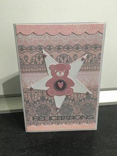 Carte Félicitations naissance fille