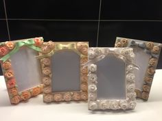 Roses frames - fimo decorated