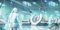 Concept art for The Institute android lab for Fallout 4 for Bethesda Game Studios. Fallout Art, Fallout 4 Concept Art, Fallout New Vegas, Space Whale, Shadow Of Mordor, Gundam Wallpapers, Bethesda Games, Fall Out 4, Comic