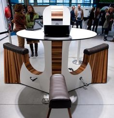 WeBike is a combined table and seat unit equipped with pedals that allow those who are sitting at the table to pedal as if they are riding a bicycle. The energy gathered from the pedaling is then used to charge devices such as laptops and cell phones that would naturally be present during an office meeting.
