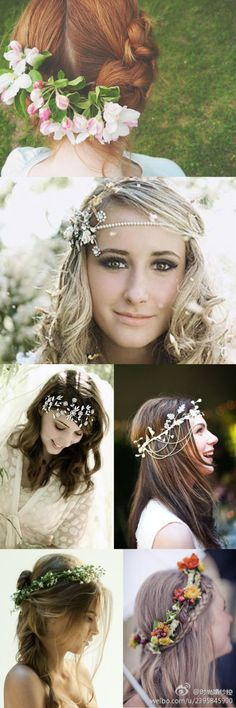 I've had enough weddings already, but would love an excuse to have any of these in my hair. Lovely!