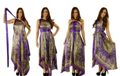 Arachne Scarf Dresses Is a 1 Ring Scarf Dress From Wrap Magic Skirts. I absolutely love these.