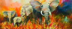 """""A drop of morning dew"""" by Tetiana YABLOED. Oil painting on Canvas, Subject: Animals and birds, Impressionistic style, One of a kind artwork, Signed on the front, Size: 120 x 50 x 3 cm (unframed), 47.24 x 19.69 x 1.18 in (unframed), Materials: Oil on Canvas"