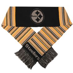 Pittsburgh Steelers Glitter Stripe Scarf