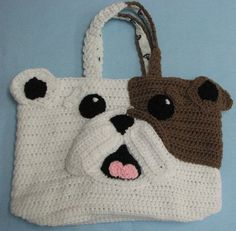 Donna's Crochet Designs Blog of Free Patterns: Bull Dog Scarf and Tote Crochet Pattern Set