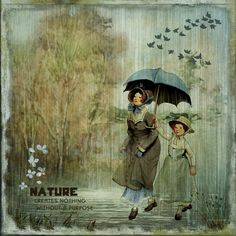https://flic.kr/p/QWqGQV   Walk In The Rain   Created with the beautiful kits: Floral Winds Floral Winds Wordart Chantilly Characters I  by Lynne Anzelc Designs.