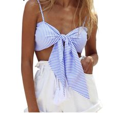 Striped Bow Tied Cami – Girl Heaven