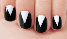 Simple Black and White Nail Art Desgins 13