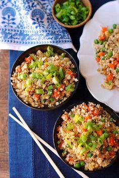 "Healthy Cauliflower Fried ""Rice"" | Eat Yourself Skinny"