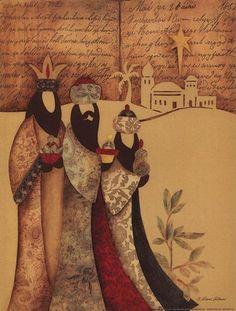 Three Wise Men Art Print by Diane Arthurs