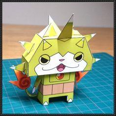 Yo-Kai Watch - Togenyan Free Paper Toy Download - http://www.papercraftsquare.com/yo-kai-watch-togenyan-free-paper-toy-download.html