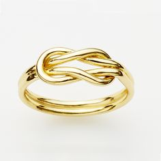Reef Knot Ring in Gold Plate  http://pinkloulou.com/pink-loulou-entwined-1/reef-knot-ring-in-18ct-gold-plate-small