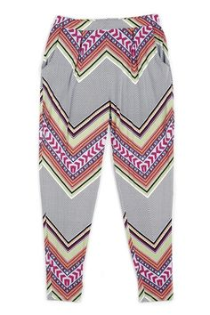 Mara Hoffman Harem Pants with Tribal Print. I want to wear pants like these with simple breezy tanks and sandals all summer long.