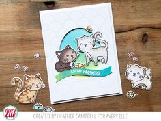 Whiskers Clear Stamps | Avery Elle Cat Cards, Clear Stamps, Cute Cats, Cat Lovers, Create, Card Crafts, Kawaii Cat