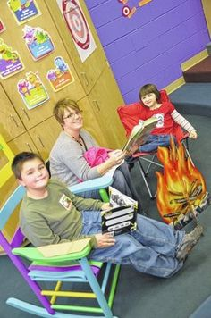 This school organized a campout themed family reading night!
