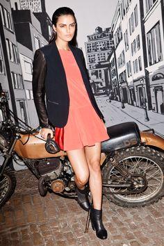 Biker girl or biker model?