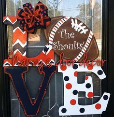 This is very festive door hanger to show your team spirit. 24 you may chose your own team colors and personalization on football. All of my