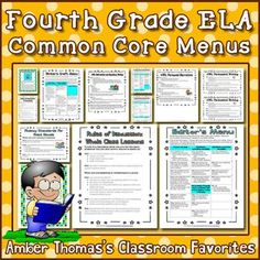 These standards are divided the same way as my literacy blocks and rephrased in kid friendly language.  Let your students keep track of what they have learned and what they will learn this year. $