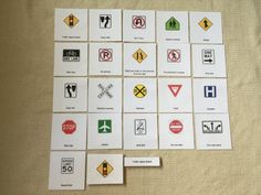 Montessori Traffic Signs 3 Parts Cards by Papyruswork on Etsy Montessori Materials, Photo Cards, Traffic Sign, Unit Studies, Signs, Holiday Decor, Handmade Gifts, Transportation, Label