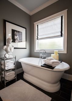 After realizing how much he admired it, this blogger knew the new room should be an ode to 1940's Hollywood glamour, starring black, white and gray.