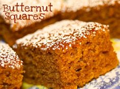 Butternut Squares--great thing to do with winter squash and eggs!