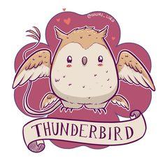 Kawaii Thunderbird by NoOneLikesAquaMan (naomi_lord)